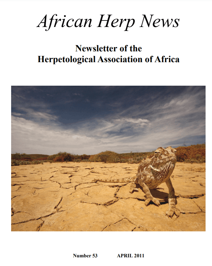 African herp news cover