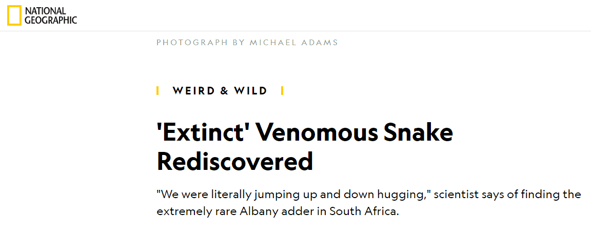 National Geographic article title